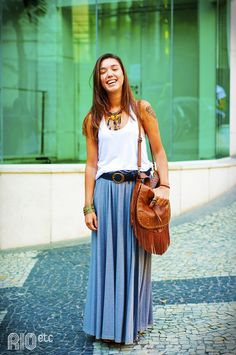maxi skirt. Summer. RIOetc. School