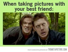 Taking pictures with your best friend:)