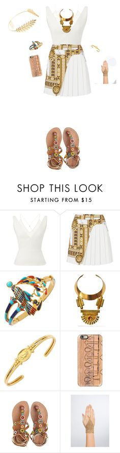 """Ancient Egyptian inspired outfit"" by makeuphobbyist ❤ liked on Polyvore featuring Roland Mouret, Versace, Bita Pourtavoosi, Casetify, Laidback London, Torrid and Cara"