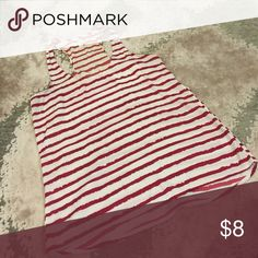 Red and White Stripe Silk Tank Great condition! All of my clothing items are new with tags or barely ever worn. Please let me know if you'd like more pics. I'm open to all offers!  Xhilaration Tops Tank Tops