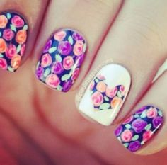 Floral Nail Polish fashion girly cute nail polish floral instagram instagram pictures instagram graphics instagram quotes