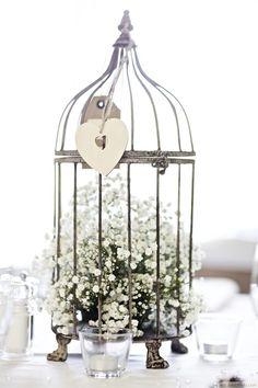 Baby's Breath In A Birdcage Wedding Centerpiece ❥❥❥ http://bestpickr.com/wedding-reception-centerpieces
