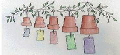 Flower Pot Wind Chimes, Free Clay Pot Craft Projects