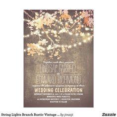 String Lights Branch Rustic Vintage Blush Wedding