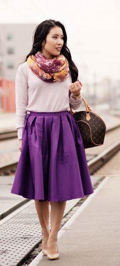 purple a-line midi skirt  http://rstyle.me/n/jpasnpdpe