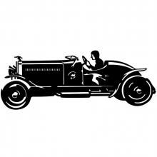 Hispano suiza old timer car pattern - four different old car SVGs - I wonder if they would trace/cut well???