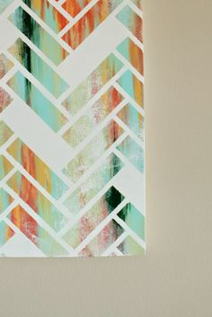 This is a fabulous tutorial sharing how to make a DIY Herringbone Canvas Art for your home.