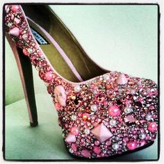 Crystal Dolls customised diamanté heels as seen on The Only Way Is Essex