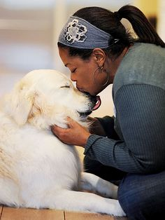 Oprah and her beautiful pooch ❤️http://www.alettertomydog.com/2012/10/people-pets-com-stars-pen-letters-to-their-pets-for-a-letter-to-my-dog-2/