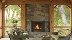 Timber Frame Screened-In Porch - Fine Homebuilding Covered Back Patio, Back Deck, Screened In Porch, Cool Rooms, Building A House, Outdoor Living, Home And Garden, Decks, Frame