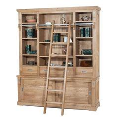 Bibliotecă din lemn de stejar Viggo II