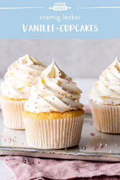 Cake Simple, Dessert Simple, Baking Recipes For Kids, Dessert Recipes For Kids, Easy Cupcake Recipes, Vanille Cupcakes, Cute Baking, Food For A Crowd, Caramel