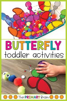 Spring is in the air, which means it is the perfect time to share our Toddler School Butterfly Unit with you all! We loved this unit because we were able to relate the butterfly activities to live butterflies that we saw outside. Science Activities For Toddlers, Lesson Plans For Toddlers, Gross Motor Activities, Literacy Activities, Toddler School, Toddler Fun, Toddler Crafts, Toddler Learning, Toddler Sensory Bins