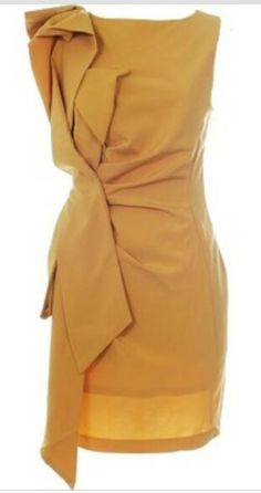 This mustard colored dress is fabulous