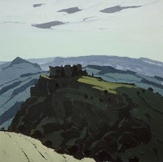 Carreg Cennen Castle by Kyffin Williams