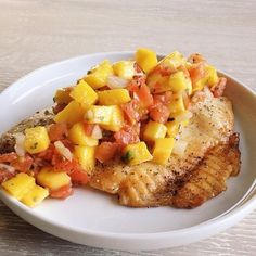 From the Official Whole30 Recipes Instagram feed. Tilapia with mango pico de gayo @TheWhetAppetite for @Whole30recipes