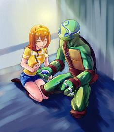 Leo and April by ice-mei.deviantart.com on @DeviantArt