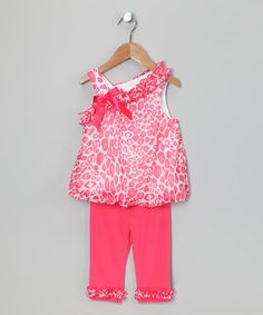 Take a look at this Rare Editions Coral Leopard Tunic & Leggings - Infant & Toddler by Rare Editions on #zulily today!