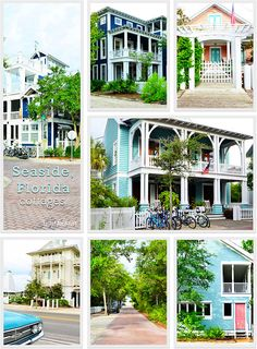 Gorgeous Seaside, Florida cottages.   perfect family vacation spot!  Learn more at TidyMom.net