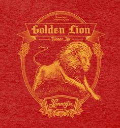#BustedTees.com - #BustedTees.com Lannister Golden Lion Blonde Ale - AdoreWe.com
