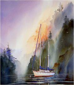 """Single Sailboat"" - by John Ebner"