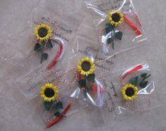 Quilled sunflower mărțișoare.