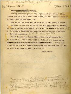 God Sleepeth Not: Helen Kellers Blistering Letter to Book-Burning German Students