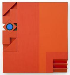 George Ortman - 'Eye', 1977, acrylic on canvas mounted on wood, 60 x 54 x 4 inches