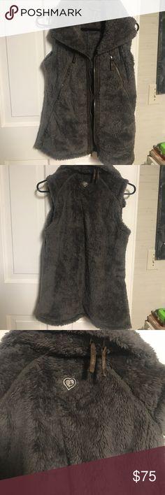 Kuhl furry vest Olive green/brown furry vest. Super soft and warm.  Worn once Kuhl Jackets & Coats Vests
