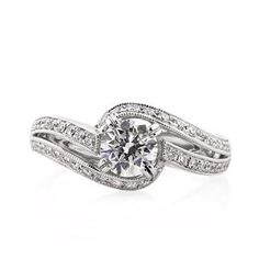 yASSSSSSSSSSSSSS - 1.24ct Round Brilliant Cut Diamond Engagement Ring available at Markbroumand.com!