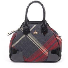 Vivienne Westwood Bags Purses Grey Womens 4583v Winter Tartan Bag ($455) ❤ liked on Polyvore