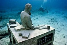 Underwater museum in Cancun.
