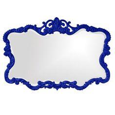 Talida Royal Blue Rectangle Mirror Howard Elliott Collection Rectangle Mirrors Home Decor