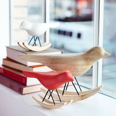 Rocking Birds #WestElm $29 for one large bird, $14 for small colored ones