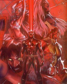This Squad!  By Oliver Coipel  #avengers #avx #allnewxmen #uncannyxmen #ageofapocalypse #xmenapocalypse #marvel #xmentheanimatedseries #rogue #wolverine #cyclops #storm #gambit #magneto #apocalypse #psylocke #deadpool #xforce #archangel #jeangrey #nightcrawler #marvelcomics #comicbooks #colossus http://ift.tt/1rqLDao