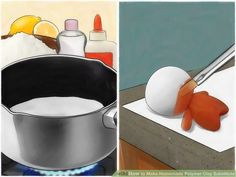 How to Make Homemade Polymer Clay Substitute. Are you tired of running to the craft store for expensive polymer clay? This wikiHow will show you how to make your own polymer clay substitute. Keep in mind, however, that these homemade clays. Homemade Polymer Clay, Polymer Clay Recipe, Polymer Clay Dolls, Polymer Clay Projects, Diy Clay, How To Make Clay, How To Make Homemade, Porcelain Clay, Cold Porcelain