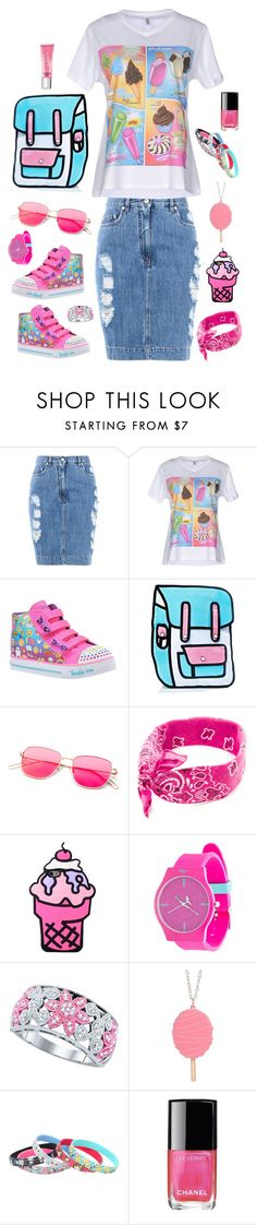 """""""Untitled #610"""" by alex-vujanovic ❤ liked on Polyvore featuring Moschino, Skechers, Everlast, Chanel and Beauty Rush"""