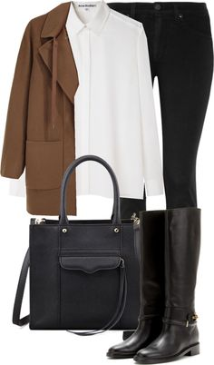 riding boots and camel coat
