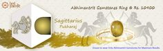 #AajmaKarDekho Abhimantrit Gemstones Ring Sagittarius ( Pukharaj )....for more details visit http://www.buyrashiratan.com