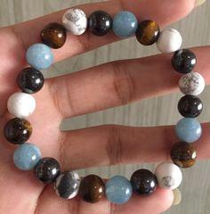 #stonebracelet  #bracelet #healingcrystals #fengshui  #charmbracelet #healingstone Healing Stones, Crystal Healing, Aqua Marine, Stone Bracelet, Beaded Bracelets, Jewelry, Jewlery, Jewerly, Pearl Bracelets