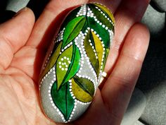 Elf's Slipper / Painted Rock / Sandi Pike Foundas/  Cape Cod Sea Stone. $39.00, via Etsy.