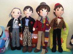 PRESALE PATTERNS Doctor Who Set of 11 Doctors and Tardis   #Crochet #Amigurumi. $58.00, via Etsy. I WANT! I know who would <3 a set of these :D