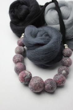 Tara M Designs - Fiber Jewelry / Hats / Accessories Felt Necklace, Crochet Necklace, Tara M, My Design, Fiber, Accessories, Jewelry, Fashion, Moda