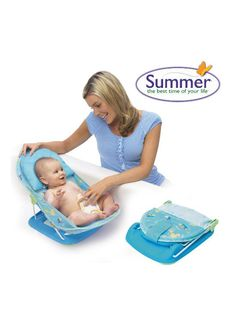 Summer Infant Deluxe Baby Bather: Make bathing baby stress-free with the Summer Infant Splish Splash Deluxe Baby Bather. Baby will love splashing around in their secure bather that keeps them elevated for safety. Leave yourself hands free to be able to wash baby without them wriggling about. It folds for storage and is quick drying. Bathing your little one just got easier.