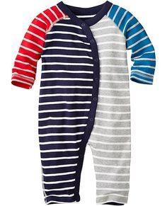 Stripe Happy Romper In Organic Cotton from #HannaAndersson.