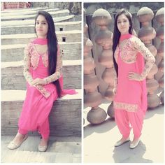 #pintrest@Dixna deol Punjabi Dress, Punjabi Bride, Punjabi Suits, Salwar Suits, Indian Suits, Indian Dresses, Indian Wear, Punjabi Fashion, Indian Fashion