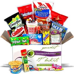 Midnight Snack Care Package Gift Basket - http://www.yourgourmetgifts.com/midnight-snack-care-package-gift-basket/