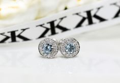 Aquamarine diamond halo earrings by Kalfin jewellery #kalfinjewellery #diamonds #aquamarine #diamondearrings #custommade #engagementrings #diamondringmelbourne #Melbourne #city #diamondengagementrings #diamondjewellery #jewellers #engagementrings #custommaderings #cbdjewellers #love #fashionista #picoftheday #fashionbloggers #stylebloggers  #design #designerjeweller #weddings #bridal #flowers #beauty #couture #luxury www.kalfin.com.au
