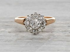 .32 Carat Edwardian Diamond Cluster Ring