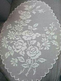 Heklanje By Fb Fanovi 87 - Salvabrani Filet Crochet Charts, Crochet Cross, Crochet Art, Thread Crochet, Crochet Stitches, Crochet Patterns, Crochet Table Runner, Crochet Tablecloth, Crochet Dollies